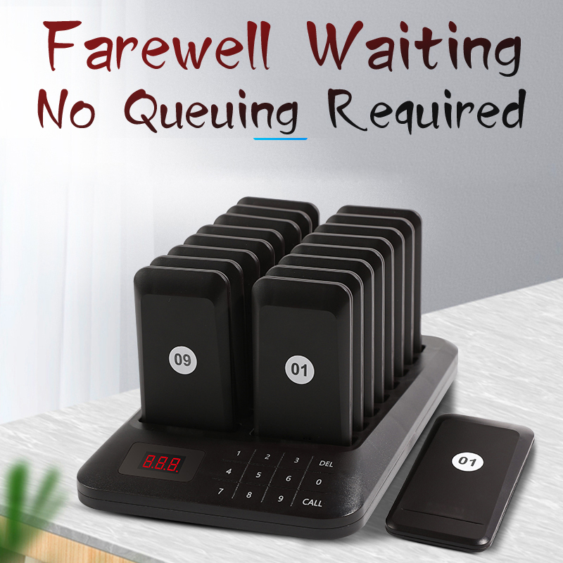 Wireless restaurant paging system restaurant pager customer guest white pager