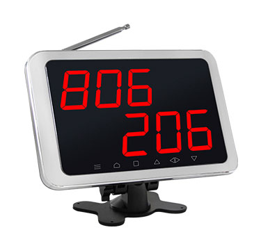 Wireless calling system digital number display receiver with 2 called number in 3 digits
