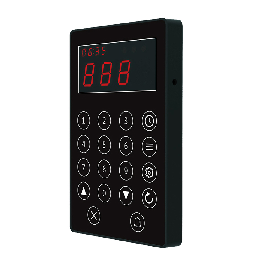 Wireless queue calling system one keypad transmitter calling multiple pagers system